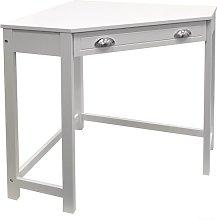 Corner Desk Three Posts Finish: White