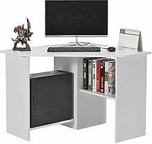 Corner Desk with 2 Shelves Computer Table Laptop