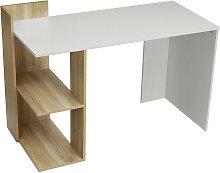 Corner Desk with Storage Shelves Computer Table