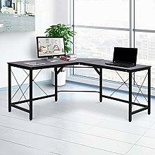 Corner L-Shape Desk Home Office Gaming Computer PC