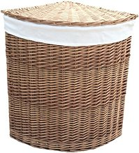 Corner Lining Wicker Laundry Bin August Grove
