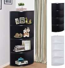 Corner Shelf 4 Tier Unit Wood Freestanding Fan