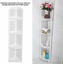 Corner Shelf, White Bathroom Cabinet Free Standing