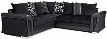 Corner Sofa Bed Sally with Storage Black