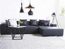 Corner Sofa Black Leather Modular Pieces Left Hand