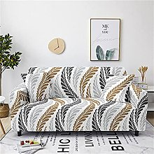 Corner Sofa Cover, Modern Creative Gray Olive Leaf
