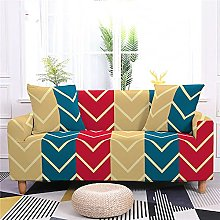Corner Sofa Cover,Modern Creative Red Stripes
