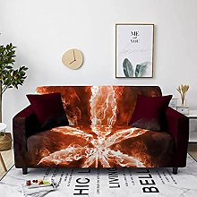 Corner Sofa Cover, Modern Creative Wine Red Flame