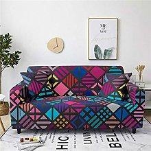 Corner Sofa Cover, Modern Dark Red Diamond Lattice