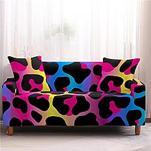Corner Sofa Cover, Modern Red Abstract Leopard