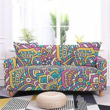 Corner Sofa Cover, Modern Rose Red Abstract