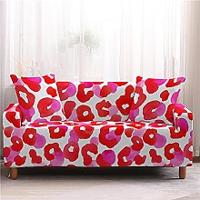 Corner Sofa Cover, Modern Rose Red Leopard Pattern