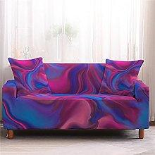 Corner Sofa Cover, Modern Rose Red Marble Pattern