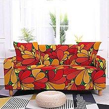 Corner Sofa Cover,Retro Abstract Floral Petal