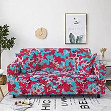 Corner Sofa Cover, Retro Creative Red Camouflage