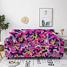 Corner Sofa Cover, Retro Creative Rose Red