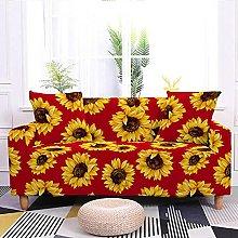 Corner Sofa Cover,Retro Yellow Sunflower Daisy