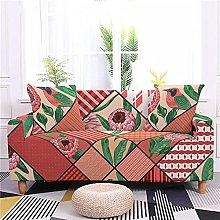 Corner Sofa Cover,Vintage Red Floral Plant Bird
