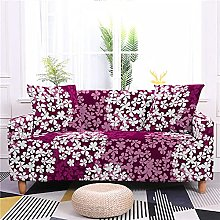 Corner Sofa Cover, Vintage Wine Red Abstract White