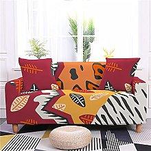 Corner Sofa Cover,Vintage Wine Red Creative Zebra