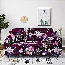 Corner Sofa Cover, Vintage Wine Red Rose Flower