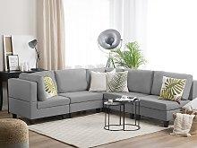 Corner Sofa Light Grey 5 Seater Modular L-Shaped