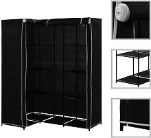 Corner Wardrobe Black 130x87x169 cm