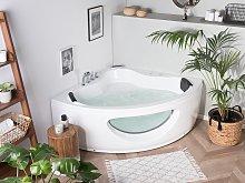 Corner Whirlpool Bath White Sanitary Acrylic with