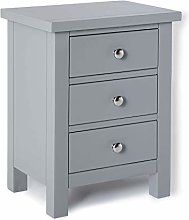 Cornish Grey Painted Bedside Cabinet Table  