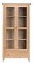 Cornsay Oak Display Cabinet