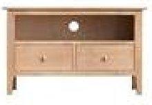 Cornsay Oak Standard TV Cabinet Fully Assembled