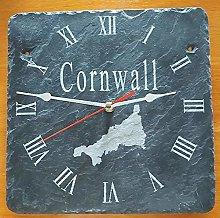 Cornwall Slate Clock - Etched in Cornwall Cornish