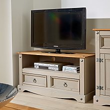 Corona Grey Two Tone TV Stand 2 Drawer Televsion