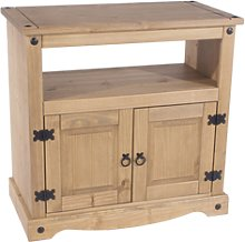 Corona Tv Stand Entertainment Unit Solid Pine 2