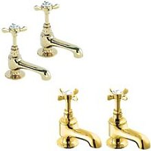 Coronation Basin Taps and Bath Taps, Gold - Deva