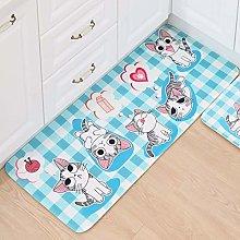 Corridor Carpets Long,Non Slip Area Rugs Blue