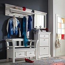 Corrin Wooden Hallway Furniture Set 1 In White