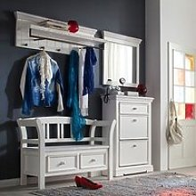 Corrin Wooden Hallway Furniture Set 1 In White