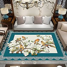 Corrugated flower Multicoloured Cotton Rug for