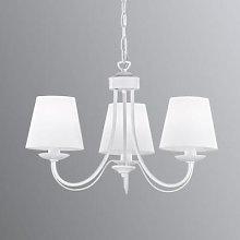 Cortez chandelier, white, 3-bulb