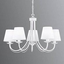 Cortez chandelier, white, 5-bulb