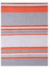 Cosatto Knitted Stripe Blanket - Grey/Orange