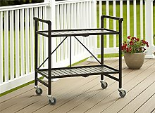 Cosco Indoor/Outdoor Folding Serving Cart, Metal,