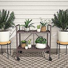 Cosco Indoor/Outdoor Folding Serving Cart, Metal,