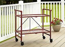 Cosco Indoor/Outdoor Folding Serving Cart, Steel,