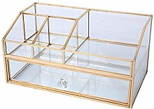 Cosmetic Display Stand Box Transparent Glass