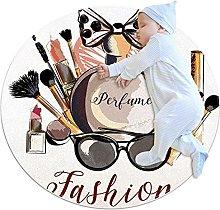 Cosmetic, Round Rug Throw Area Rug Soft Fashion