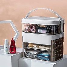 Cosmetic Storage Box LED Light Dustproof Desktop