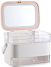 Cosmetic Storage Box LED Light Makeup Mirror