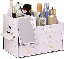 Cosmetic Storage Box With Mirror Home Drawer Type